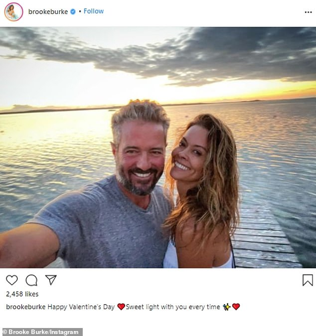 A close bond:Brooke Burke has been dating Scott Rigsby for a year and a half. And on Monday the 49-year-old Dancing With The Stars winner told DailyMail.com that she 'has never been happier' in her life than she is right now with the real estate investor. 'He has all the things I need,' she shared