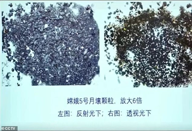 China has shared a look at the first moon samples to be brought back to Earth in more than 45 years