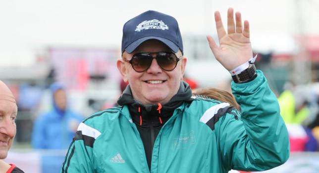 Chris Evans at the Virgin London Marathon