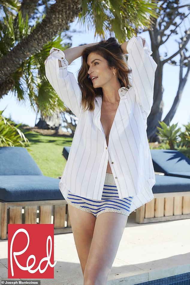 Candid: Cindy Crawford, 54, detailed how her attitude to keeping fit has changed over the years in a new interview on Thursday