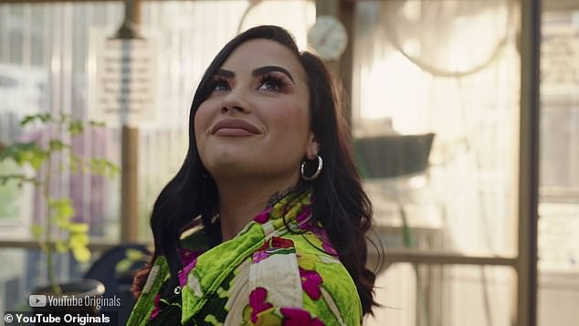 No regrets:Demi Lovato has revealed that despite the 'painful journey' she endured following her near-fatal 2018 drug overdoes, she '[doesn't] regret anything'