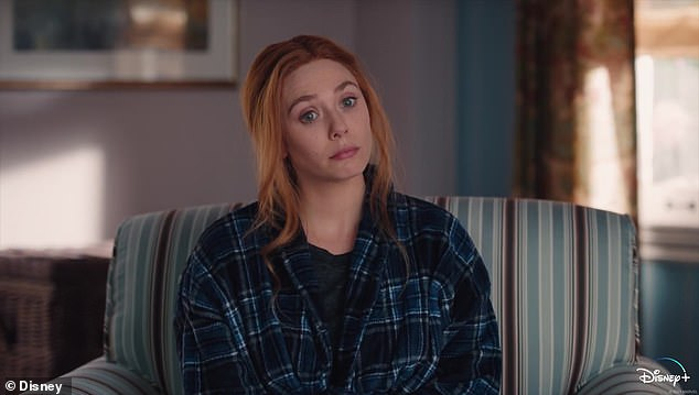 Punish:Wanda Maximoff (Elizabeth Olsen) tries to 'punish' herself after getting a little out of hand in a sneak peek for Friday's episode of WandaVision