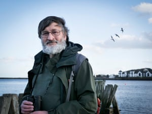 Daniel Turner, who has been recording the kittiwakes on Tyneside for 27 years.