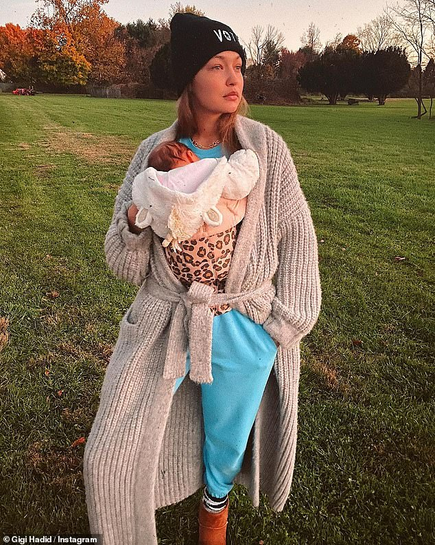 She won't show her baby's face:Gigi Hadid decided even before her daughter Khai was born that she would keep the child out of the spotlight