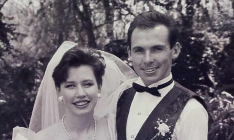 Their wedding in 1991.