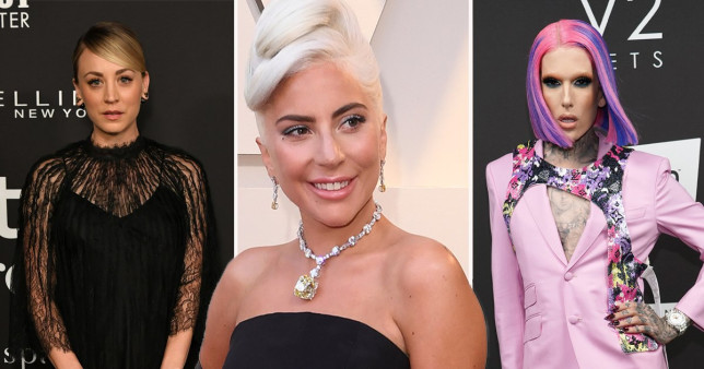 Kaley Cuoco and Jeffree Star has sent messages of support to Lady Gaga about her dogs