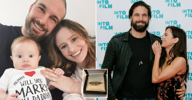Camilla Thurlow and Jamie Jewitt engaged