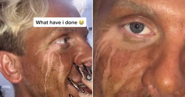 Makeup artist suffers fake tan fail after crying to My Sister's Keeper