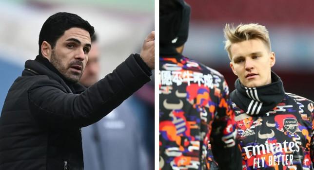 Mikel Arteta praised Martin Odegaard's full Arsenal debut against Leeds United