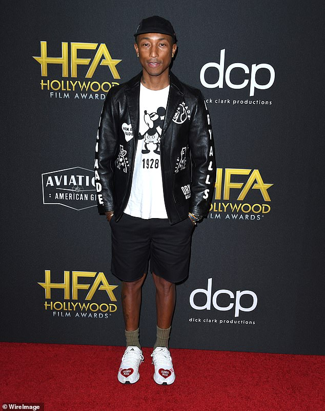 Free and clear: A US District Court judge ruled Friday that Pharrell Williams had not committed perjury in a sworn deposition from the 2015 lawsuit claiming his song Blurred Lines had been plagiarized from Marvin Gaye's hit Got To Give It Up; seen in 2019