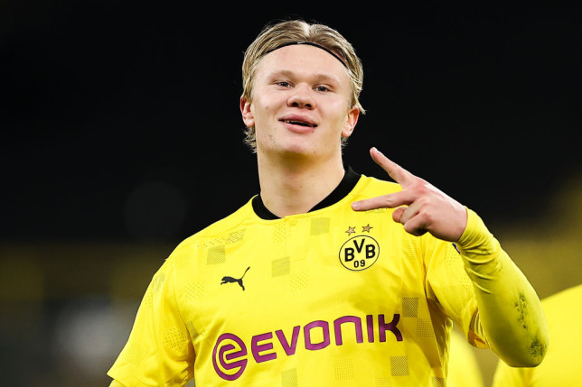 Borussia Dortmund striker Erling Haaland is on Chelsea's radar