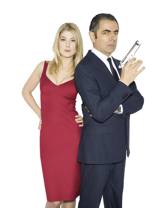 Film: Johnny English Reborn (2011) Rosamund Pike and Rowan Atkinson