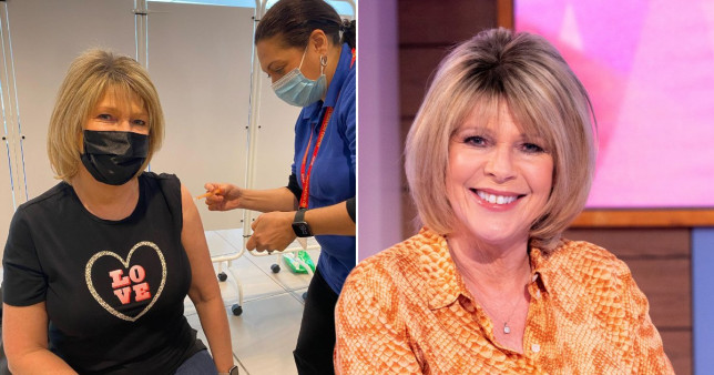 Ruth Langsford gets Covid vaccine
