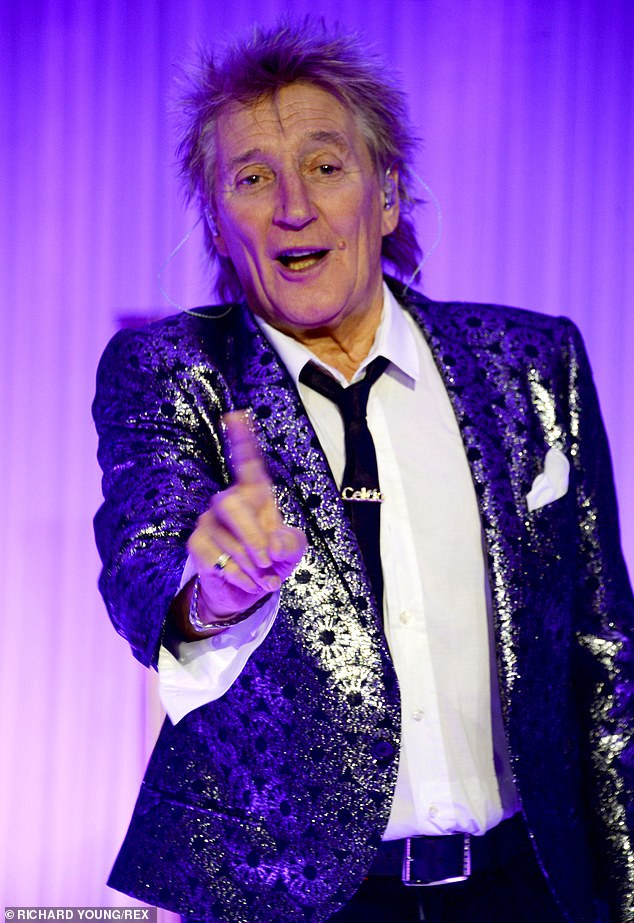 What a treat:Sir Rod Stewart decided to spent £25 on a tribute act impersonating none other than himself to surprise his son Liam for his 26th birthday