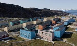 Social housing blocks in Ilulissat, Greenland.
