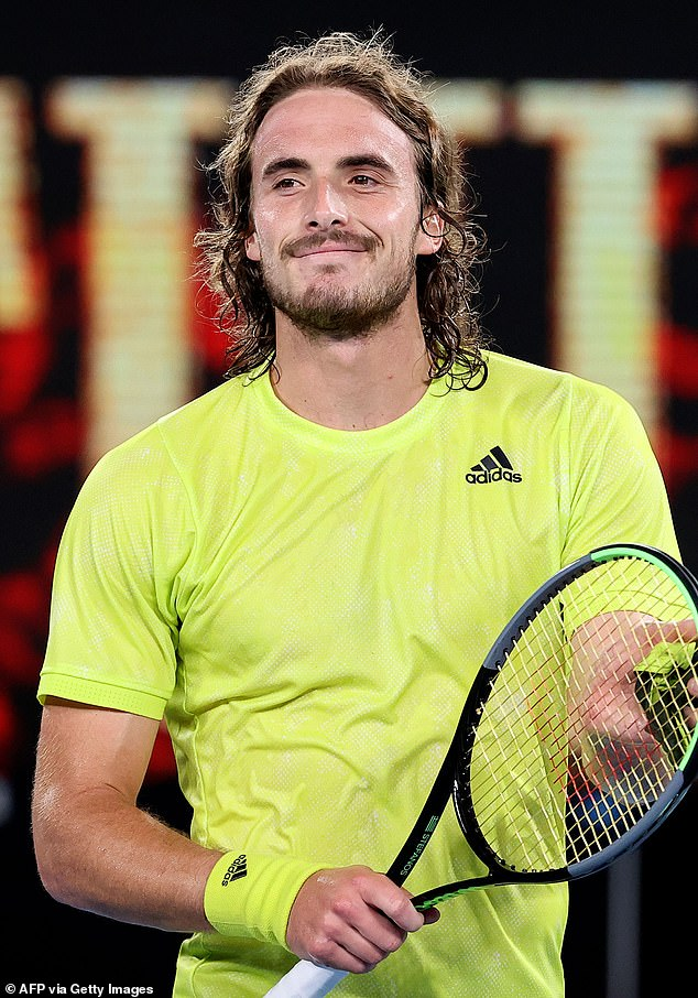 He's a hit! 'Greek god' tennis hunk Stefanos Tsitsipas, 22, (pictured) has been sending local women into a frenzy as he competes in the Australian Open