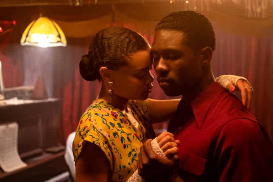 Andra Day and Trevante Rhodes in The US vs Billie Holliday.
