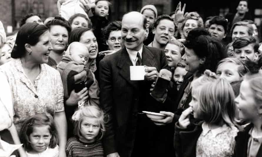 Clement Attlee, in London in 1945