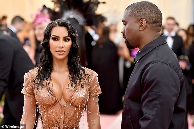'Kind':They added that Kim is being as 'gentle and kind' as she can be due to Kanye's bipolar battle and his past behaviour, which saw him embark on the unlikely bid for presidency and go on several worrying Twitter rants (pictured in 2019)