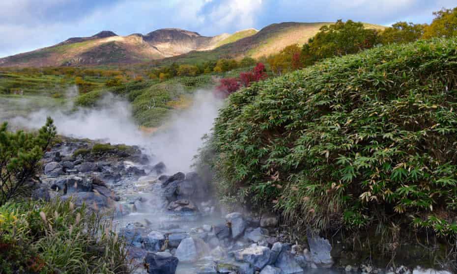 Baransky volcano on the Kuril islands, Russia