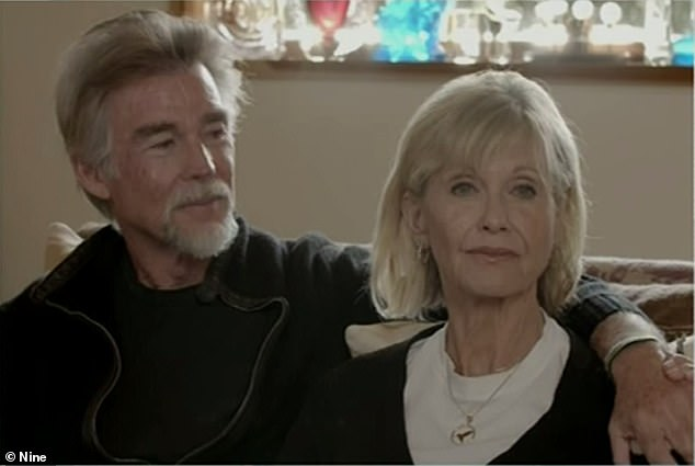 'He has great knowledge': On December 8, Olivia and her second husband John Easterling launched the Olivia Newton-John Foundation Fund to support research into plant medicine for cancer (pictured in 2019)