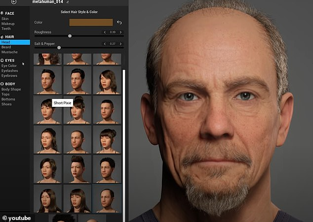 It provides dozens of hairstyles, ear types, lip shades and more, allowing users to mix and match to create 3D characters that move and speak as if they were humans - all of which can be completed in less than an hour