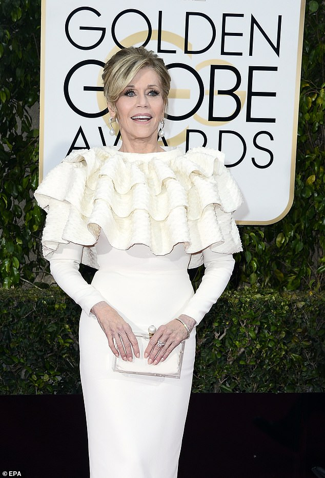 An honor:Jane Fonda will receive a career achievement award, as will Norman Lear for his work on the television side. Seen in 2016
