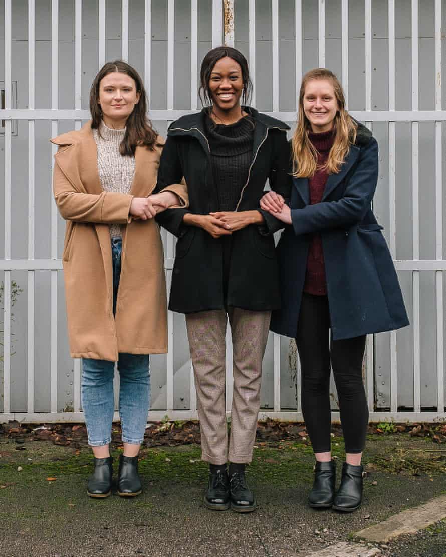 Rebekah Billingham, Judith Edhogbo and Lucy Buckingham, Manchester