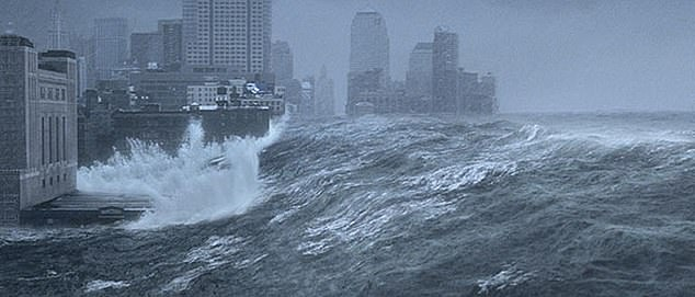 The AMOC was the plot of the 2004 film 'The Day After Tomorrow,' which depicted the current coming to an abrupt stop and triggered catastrophic storms worldwide. Pictured is a scene of New York being flooded