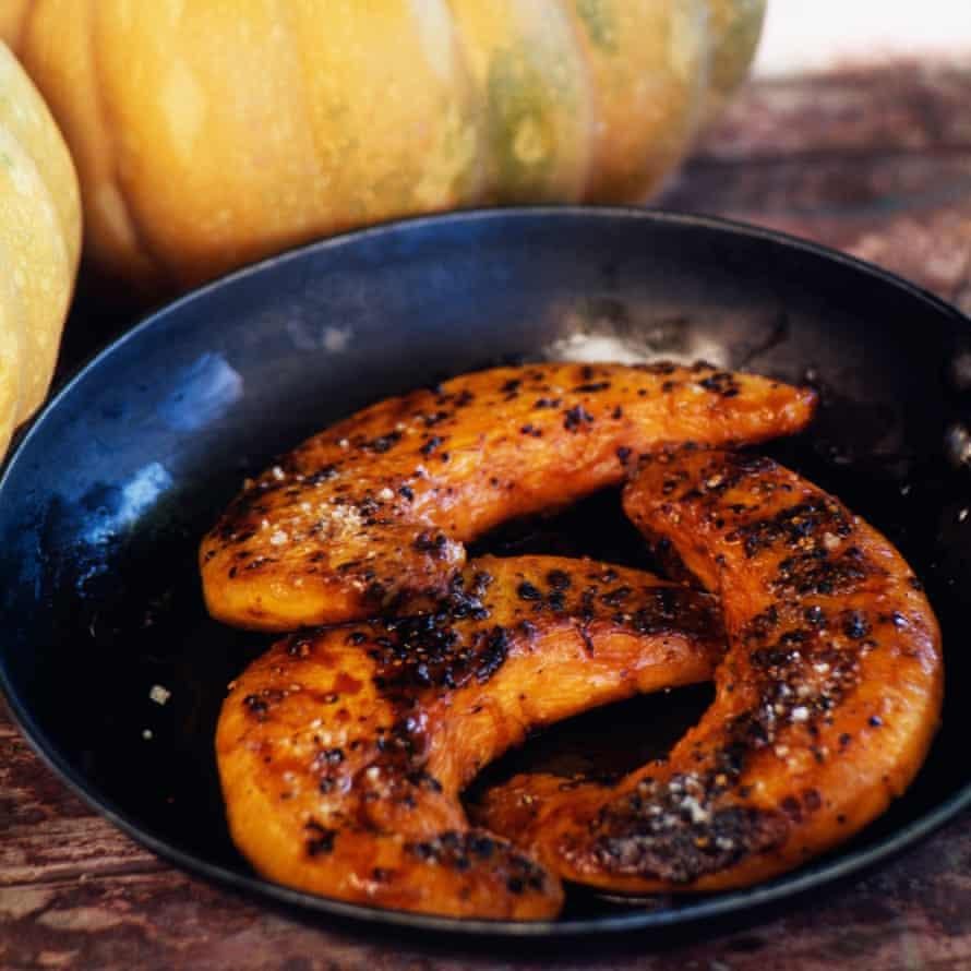 Pan-fried pumpkin.