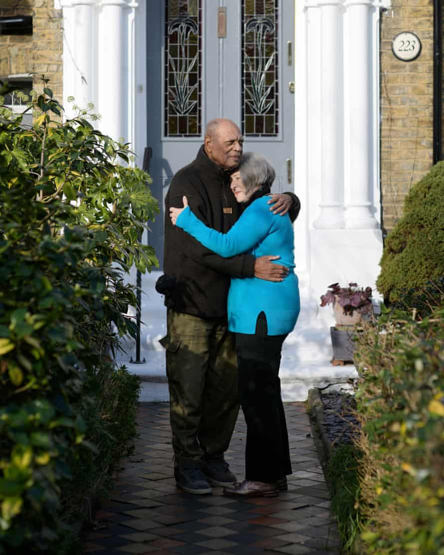 Celia Burgess-Macey and husband Neil Macey, London