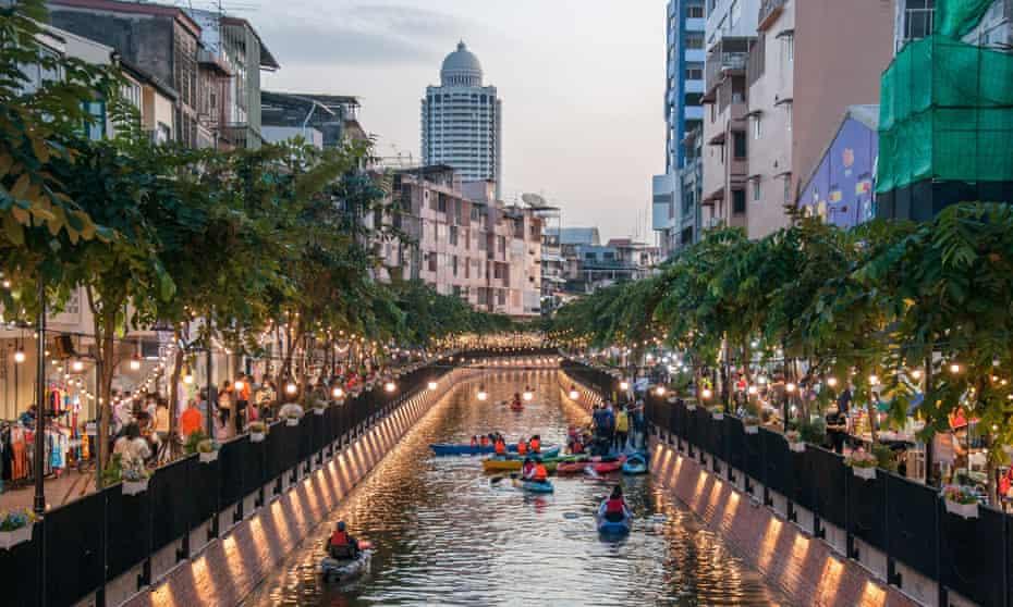The rejuvenated Khlong Ong Ang canal, Bangkok
