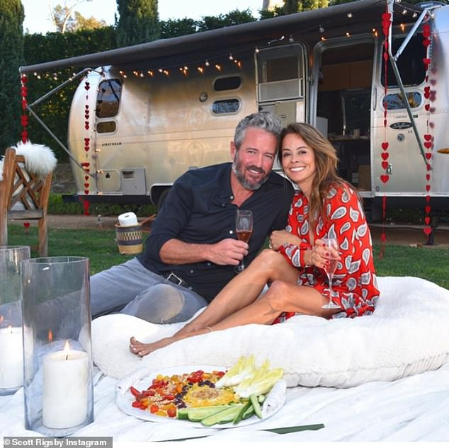 Just the two of us:Brooke, who was last married to Baywatch star Dave Charvet, told DailyMail.com that she and Scott just click. 'We are very happy together,' said the TV host