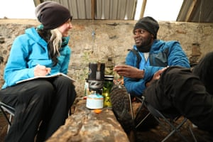 Phoebe and Dwayne in the Carnmore bothy