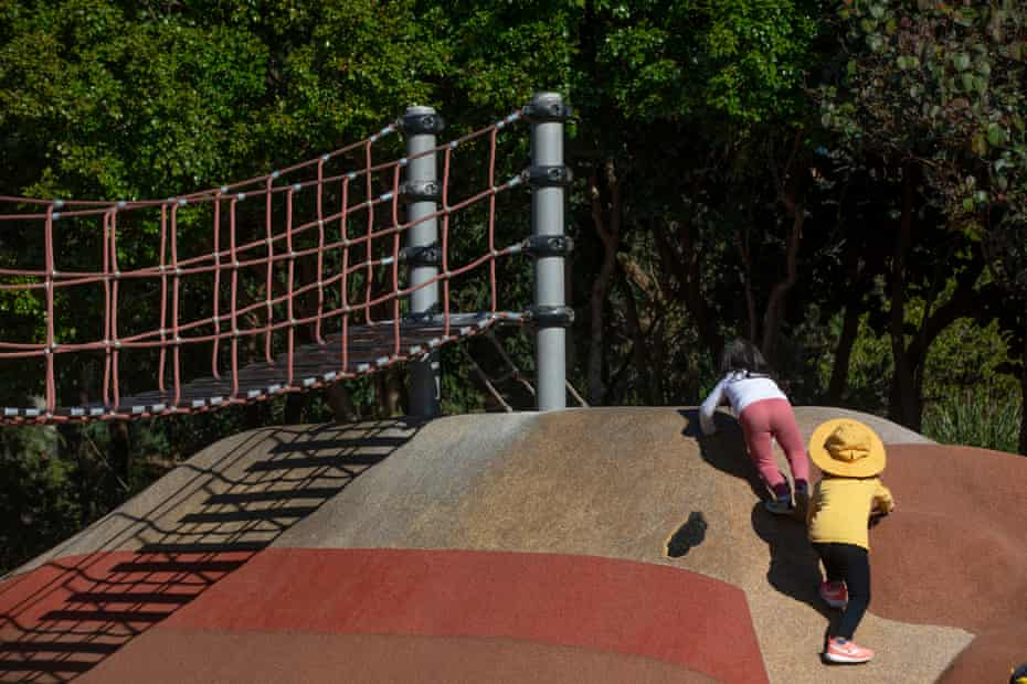 Children play at the JDM-designed playground at Sydney Park, Alexandria