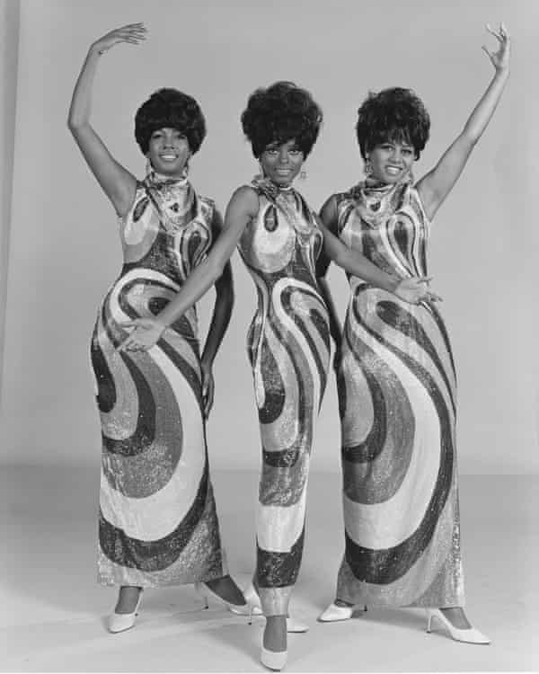 The Supremes in 1968. From left: Mary Wilson, Diana Ross and Cindy Birdsong.