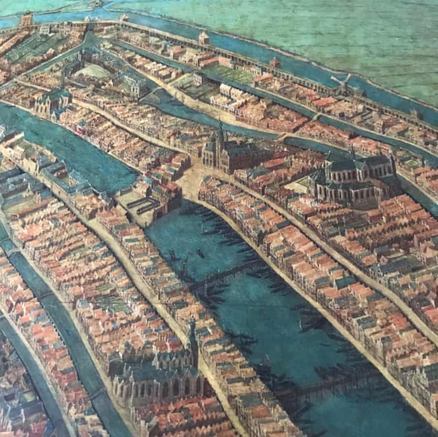 Cornelis Anthonisz's map of Amsterdam in 1538