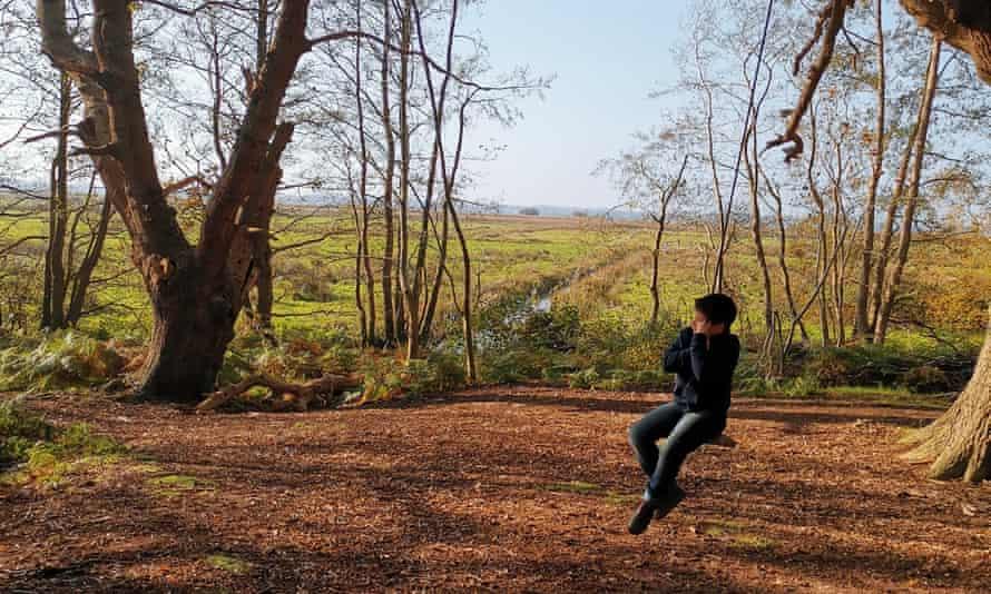Boy on a swing Herringfleet Hills