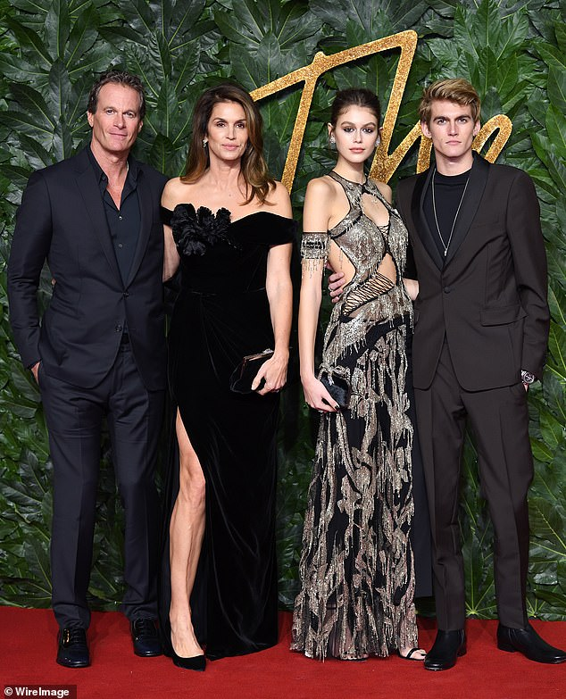 Family: Cindy, who has been married to husband Rande Gerber since 1998 and shares son Presely and daughter Kaia with, said their close friendship is the key to their happy marriage