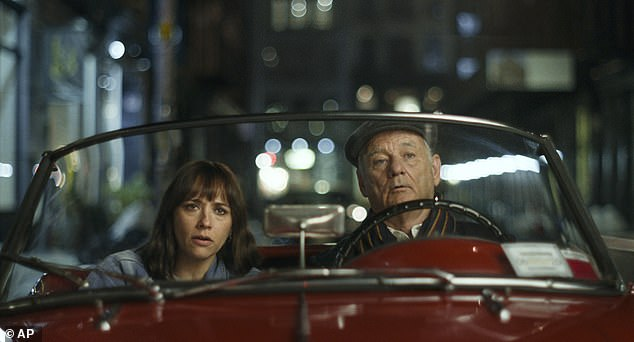 Comedy drama: Jones in the comedy-drama On The Rocks portrays novelist Laura Keane who confides in her father Felix Keane, played by Bill Murray, that she suspects her husband of being unfaithful