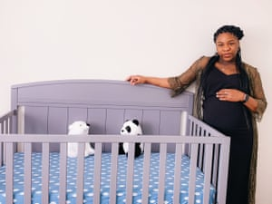 Andrea Rhymes is photographed virtually in her home in Indianapolis, Indiana on Thursday Feb. 11, 2021. Photo by Calla Kessler for The Guardian