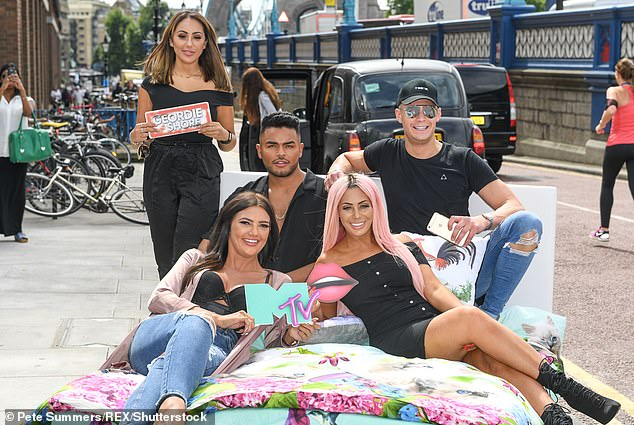 Trouble: It's been reported that the 10th anniversary Geordie Shore reunion set for South America is in chaos after stars were told about quarantine requirements (pictured 2017)
