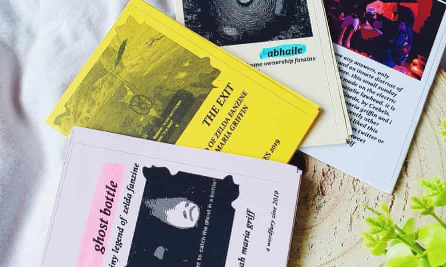 Ghost bottle, The Exit, Abhaile, wordfury ... a selection of Sarah Maria Griffin's zines.