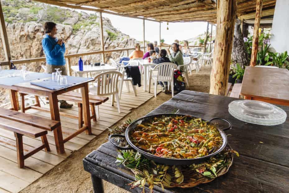 Paella for lunch at Sa Foradada restaurant