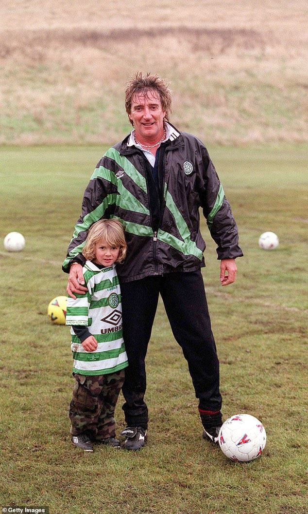 That's my boy: Rod offered his son a very unusual gift to mark his 26th birthday (pictured together in 1999)