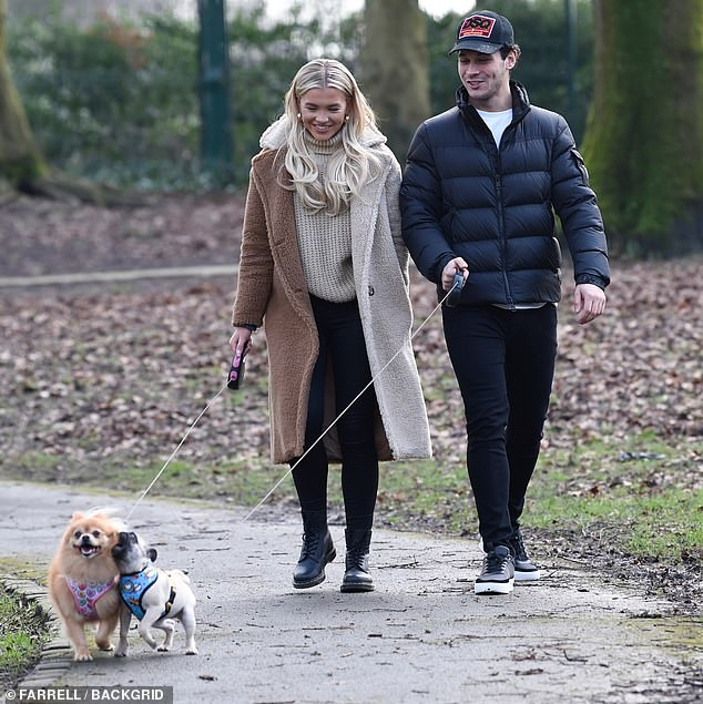 Outing:On Wednesday, Molly was seen on a romantic walk with her boyfriend, Callum Jones, whom she met on Love Island last year