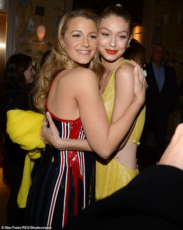 A close bond:And in her March Vogue cover story, the 25-year-old supermodel shared she was inspired by the way her close friend Blake Lively and her husband Ryan Reynolds have raised their three children. Seen in 2017