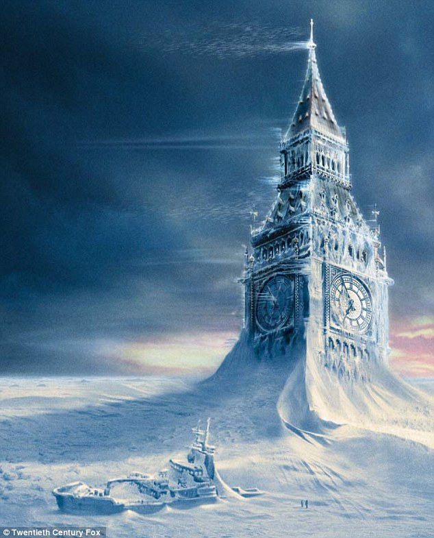The AMOC was the plot of the 2004 film 'The Day After Tomorrow,' which depicted the current coming to an abrupt stop and triggered catastrophic storms worldwide.Pictured Big Ben engulfed in snow