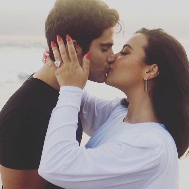 A closer look:Fans of Lovato will also get a glimpse into Lovato's ill-fated July 2020 engagement to soap star Max Ehrich, 29, and, presumably, the messy split that played out online just two months later; Max and Demi pictured in July