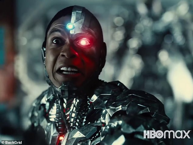 End of the road: Hamada seemed to suggest that Fisher's time with DC could be limited if future projects ignored the events and characters of Justice League; still from Justice League: Snyder Cut